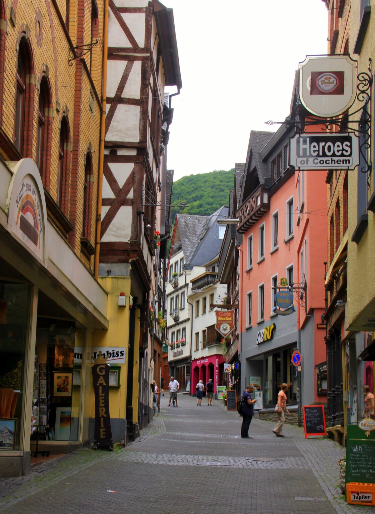 Cobbled streets of Cochem