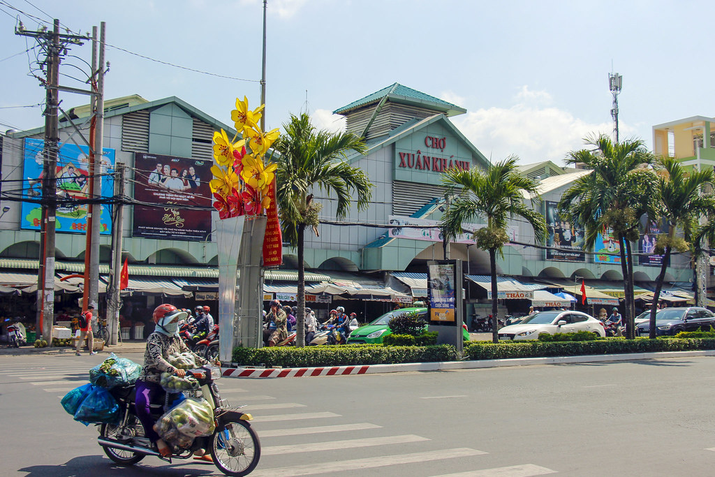 markeder i Can Tho, Vietnam