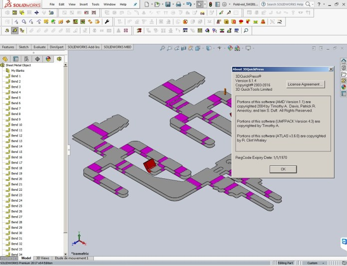 Thiết kế với 3DQuickPress v6.1.4 HotFix for SolidWorks 2011-2017 64bit