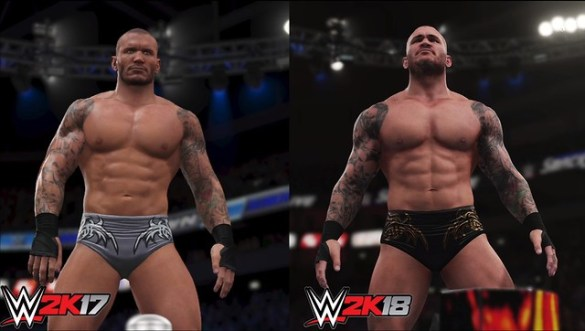 WWE 2K17 vs WWE 2K18 - Randy Orton