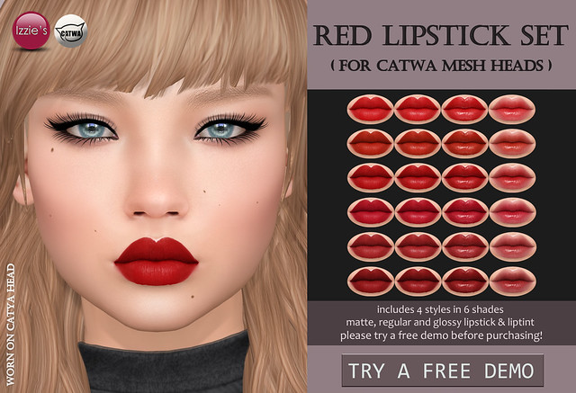 Red Lipstick Set Catwa (for FLF)