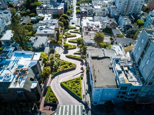 Lombard Street desde el aire