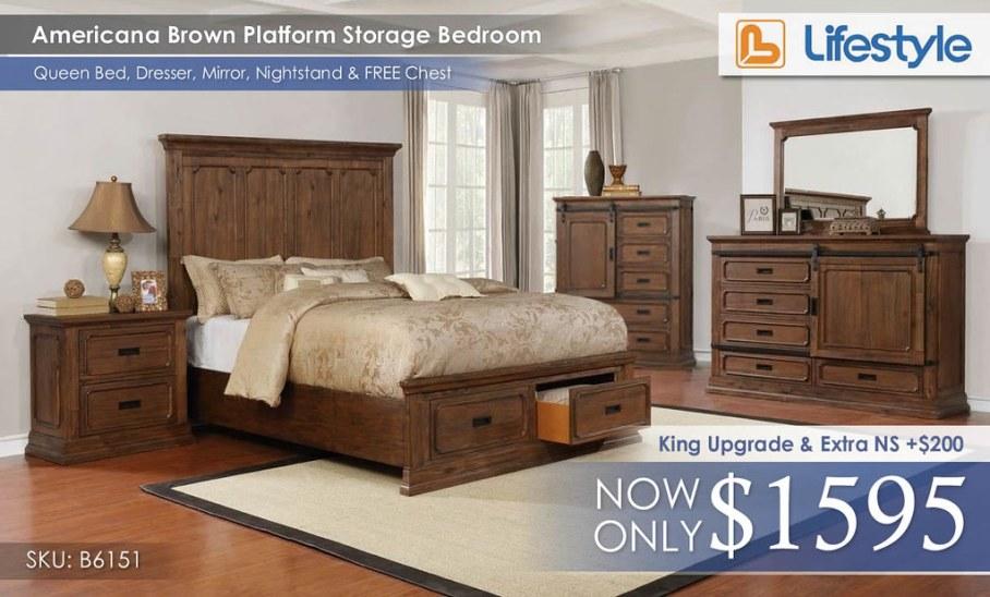 Americana Brown Queen Bedroom B6151BR__63314.1499698575