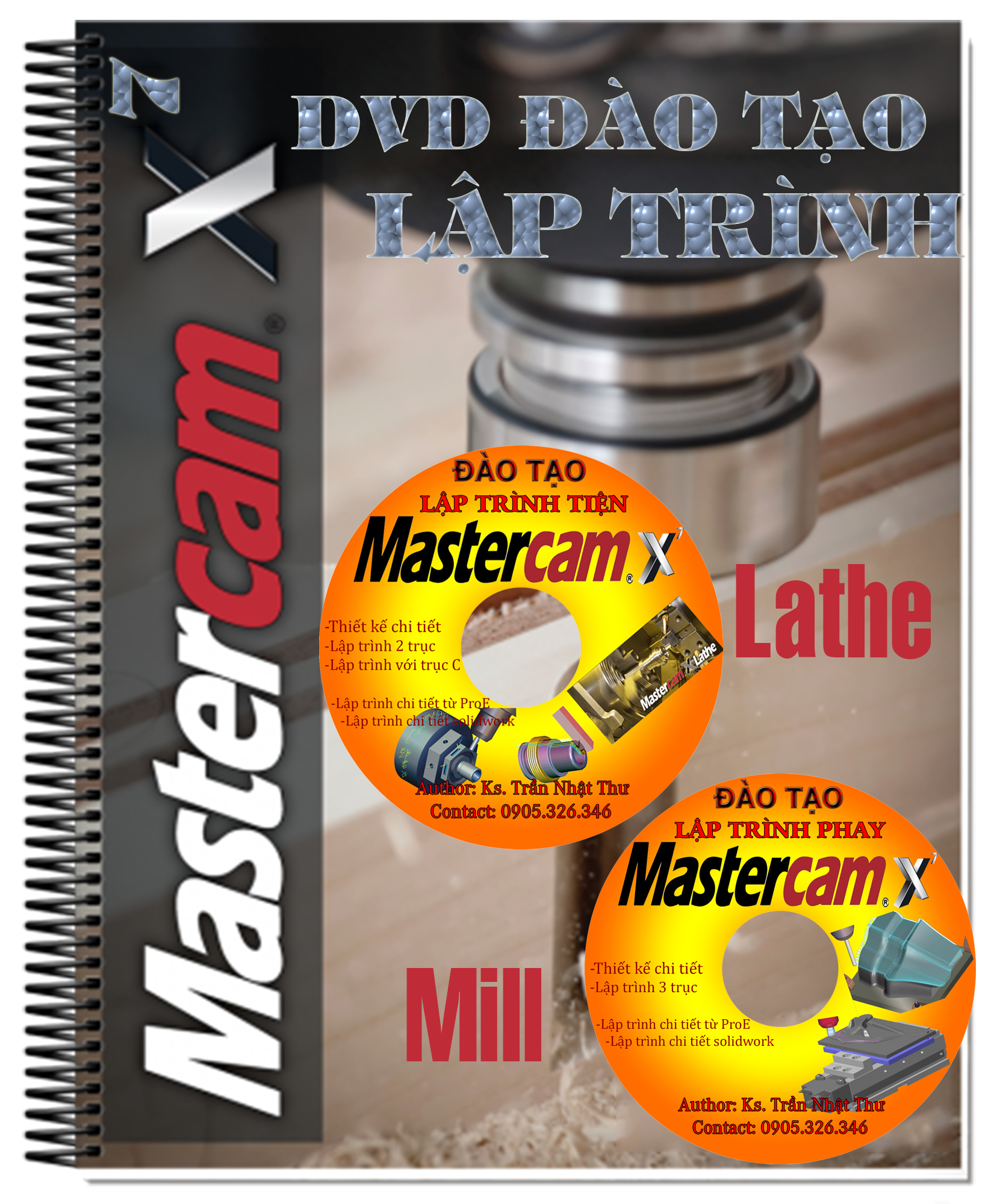 DVD đào tạo lập trình gia công tiện - phay với mastercam X7