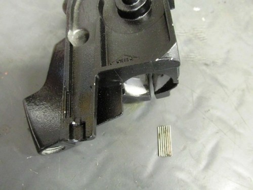 "Right Lever Housing with Serrated ""Perch"""