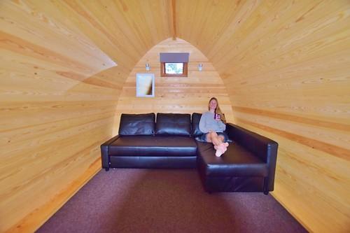 Blair Castle Camping Pod - my bed! At Blair Atholl Caravan Park