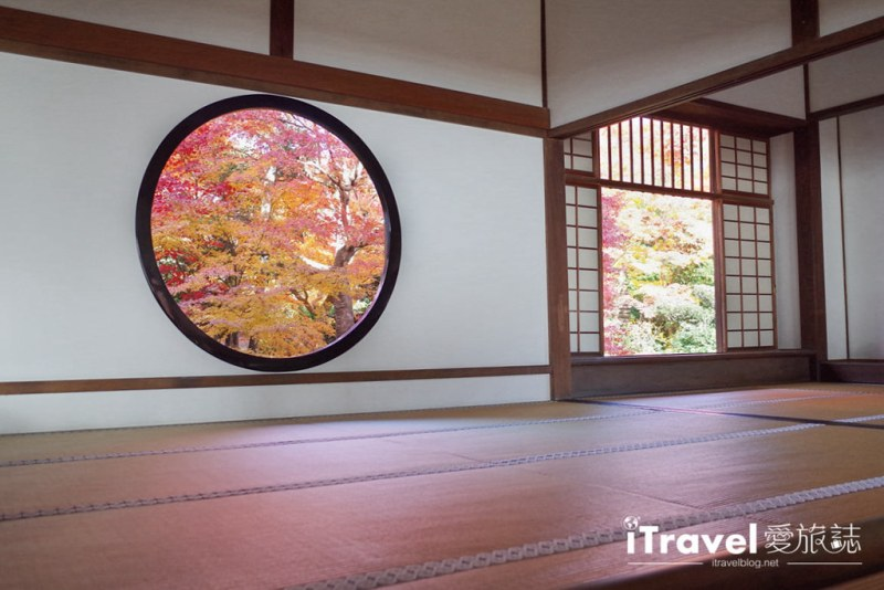 《京都賞楓景點》源光庵:一圓一方的秋天紅葉窗景