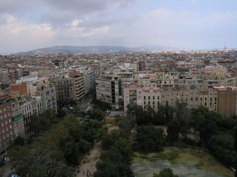 Barcelona vista from sagrada familia