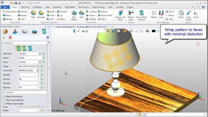 giao diện phần mềm ZwSoft ZW3D 2013 v17.10 SP build 22.08.2013 x86x64 full