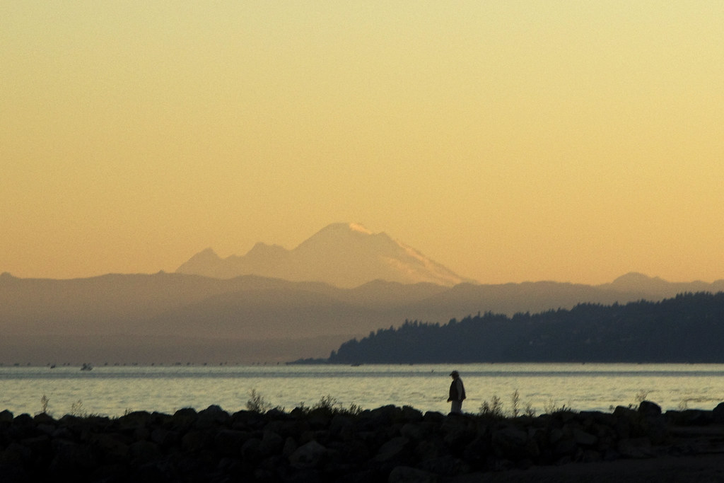morning view of Mt Baker