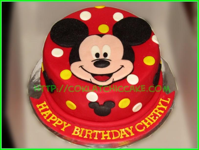 Cake Mickey Mouse Cheryl Coklatchic Cake