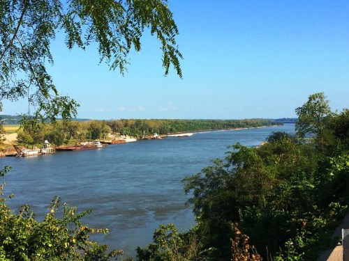 Missouri River From Patio of Cliff Manor B&B Jefferson City MO