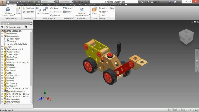 Lắp ráp và mô phỏng trong inventor 2015