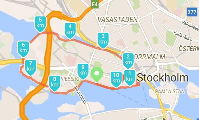 Rond Kungsholmen lopen in Stockholm