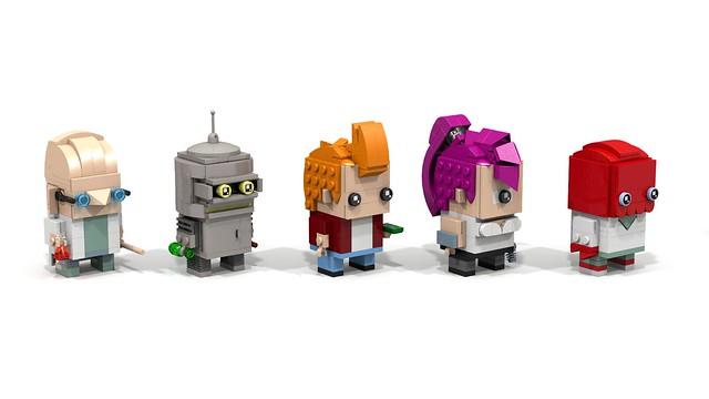 Brickheadz Futurama (black eyes v2)