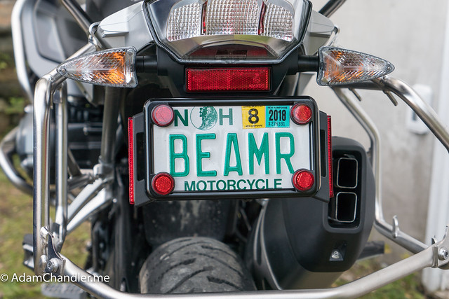 Red Motorcycle Mini License Plate Reflector