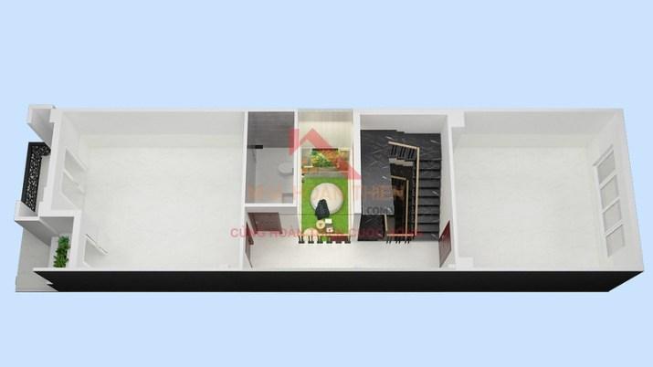 Tầng 1 L3.9 nhà được thiết kế và xây dựng theo mô hình cho thuê của Công Ty Cổ Phần Nhà Hoàn Thiện