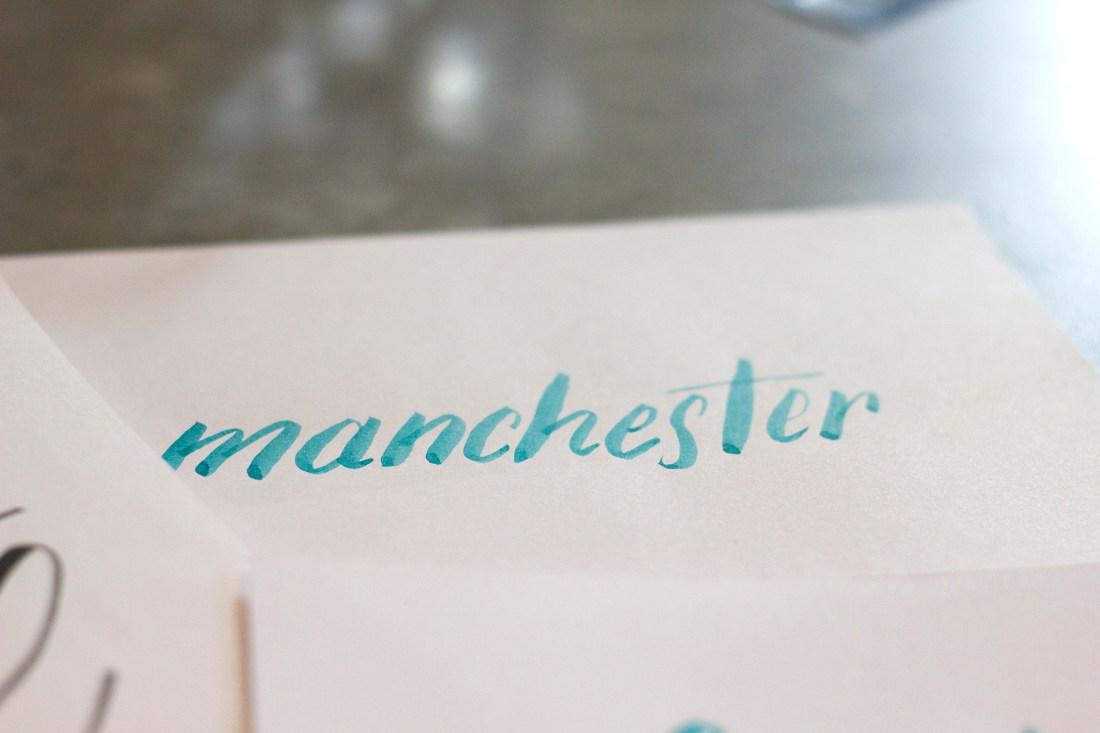 Manchester - Brush Lettering Workshop