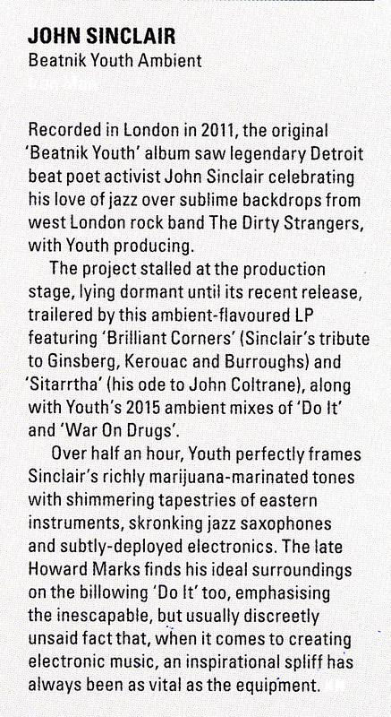 John Sinclair - Beatnik Youth Ambient - Electronic Sound Magazine - August 2017