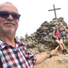 Gipfel mit Selfiegesicht