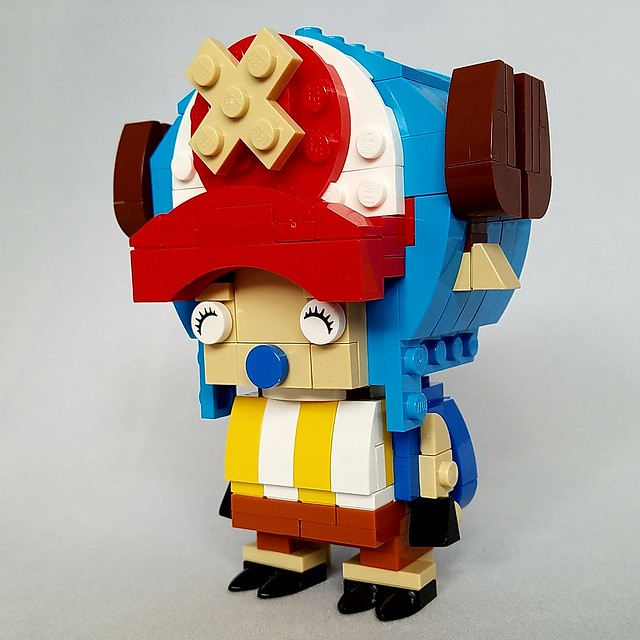 Tony tony chopper brickheadz Im back! Been away for quite a while. New job, new apartment stopped me from making my own models. I work at Legoland discovery center philly as the master model builder now. Can't post what I make there to my personal accoun