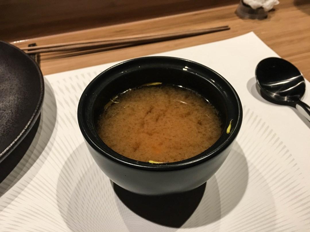 Chrysanthemum miso soup
