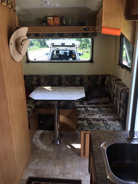 Escape Trailer Dining area