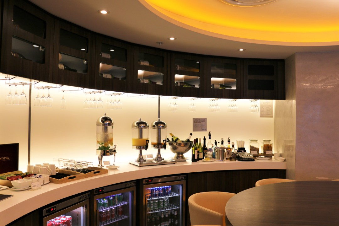 Bar at SkyTeam lounge Sydney