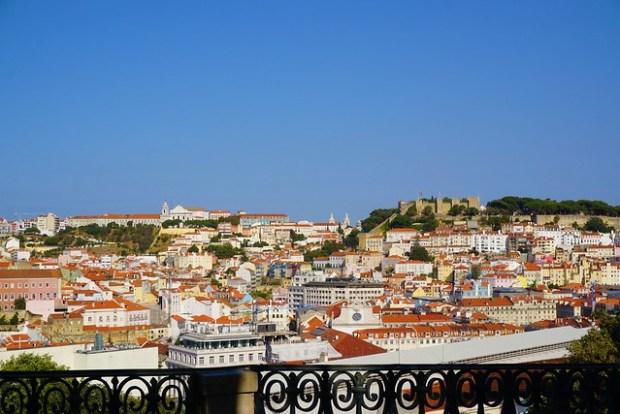 Lisbon seen from Miradouro de São Pedro de Alcântara