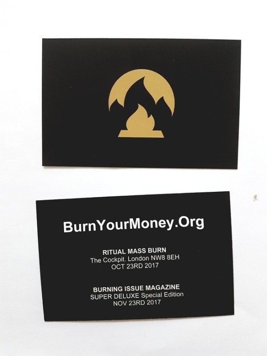 Burn Your Money - Ritual Mass Burn