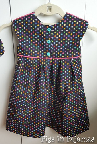 Polka Dot Geranium Dress back