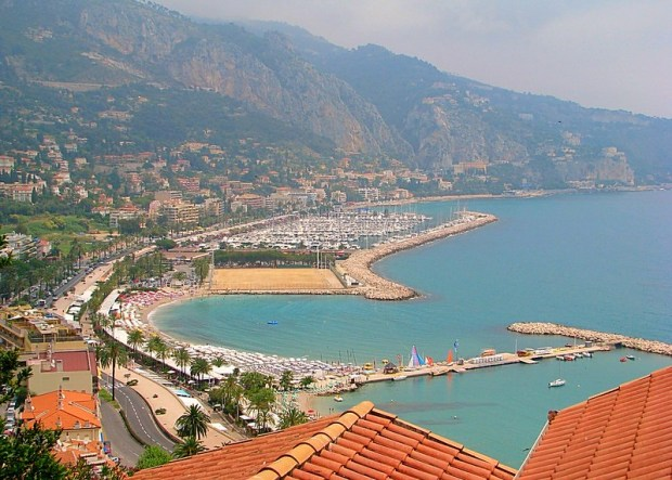 Menton French Italian border
