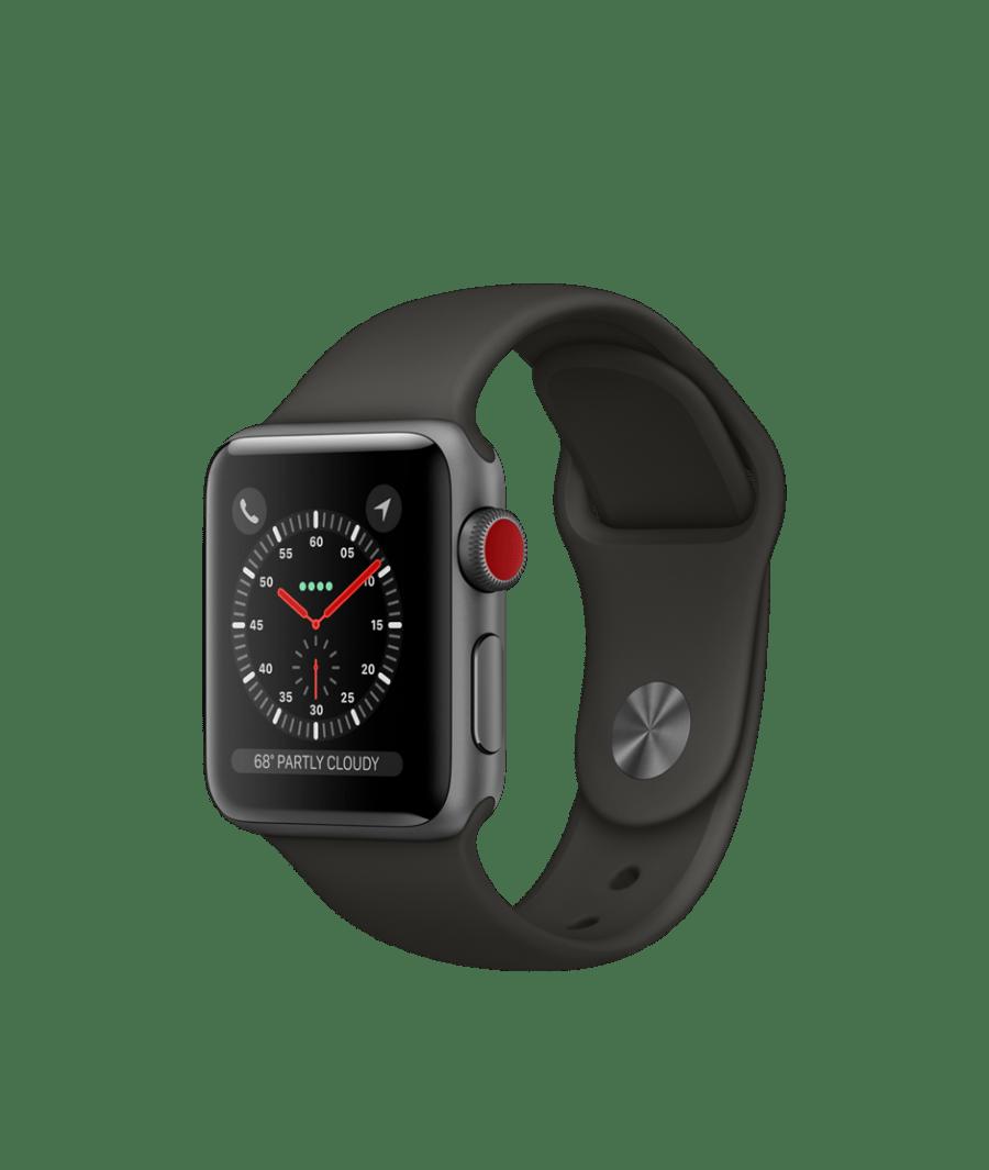 20170914 Apple Watche Series 3 38 alu space sport gray