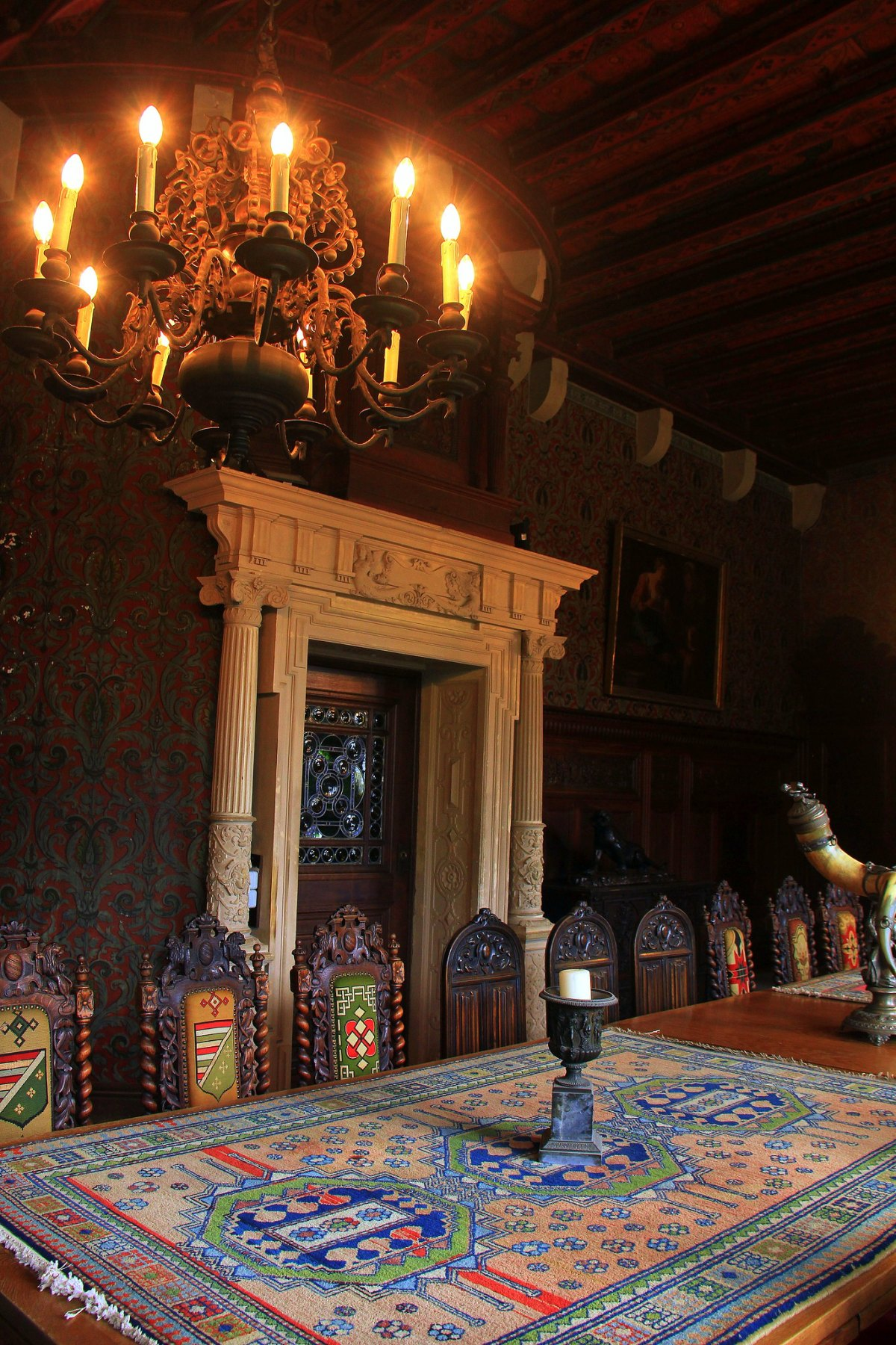 Beautiful interiors of the Reichsburg in Cochem