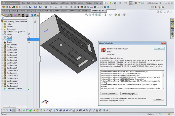 Phần mềm SolidWorks 2014 SP5 full license