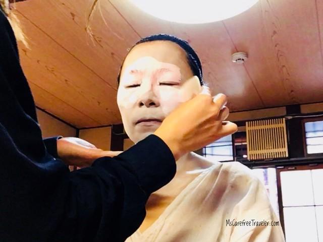 Maiko white makeup
