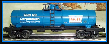 Gulf Oil Blue tank car