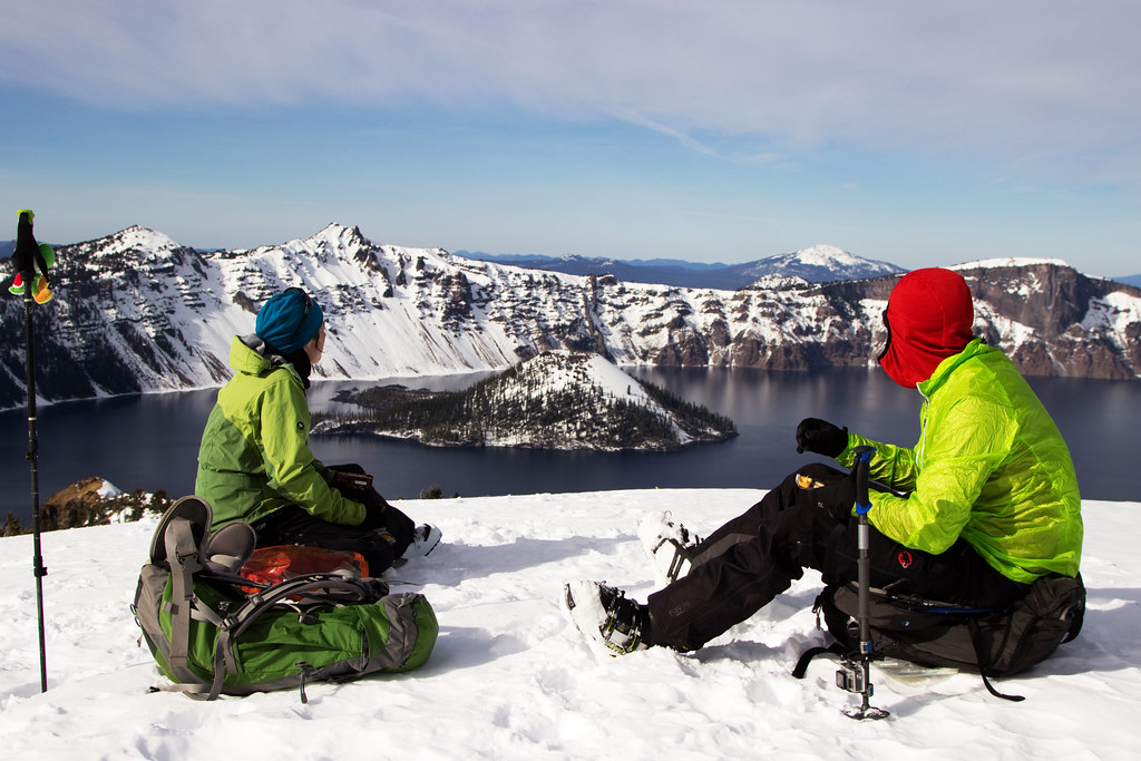 Lunch break in Crater Lake