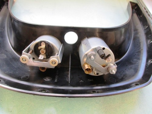 Volt Meter (Left) and Clock (Right) Brackets Installed