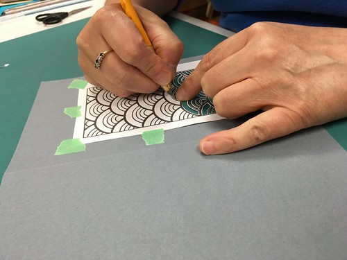 Paper cutting workshop in Fort Smith NWT