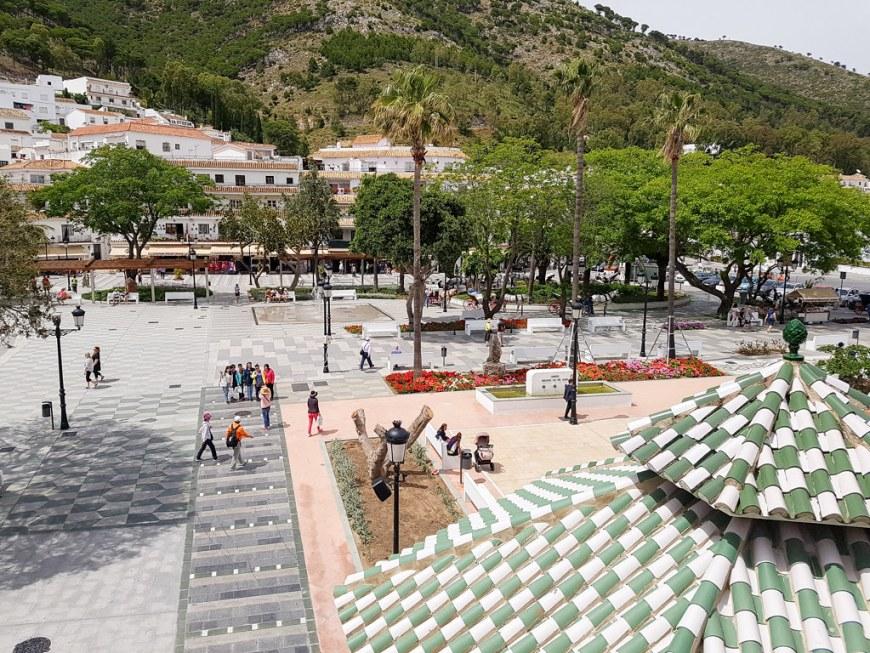 The main square in Mijas Pueblo