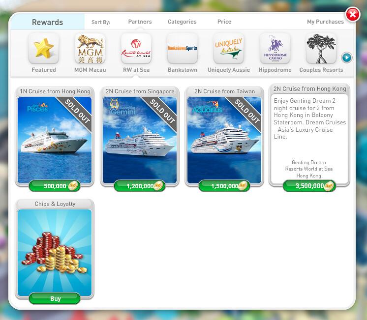myVegas Cruise Rewards