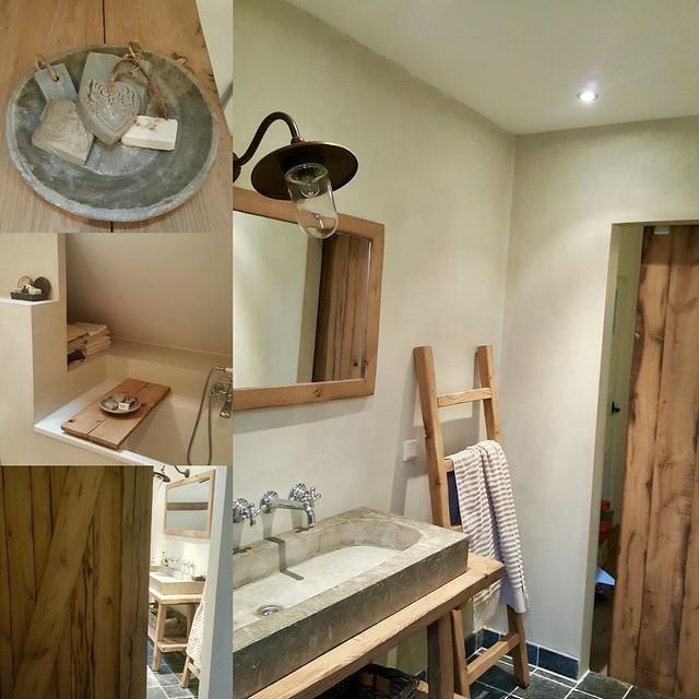 Collage badkamer woonboerderij