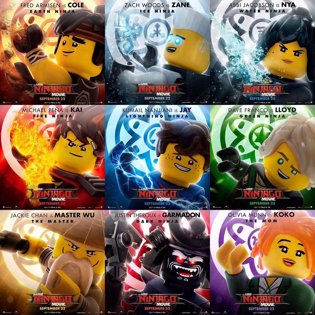 The LEGO Ninjago Movie - character posters