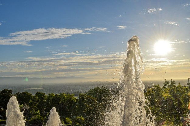Fountain view of Silicon Valley