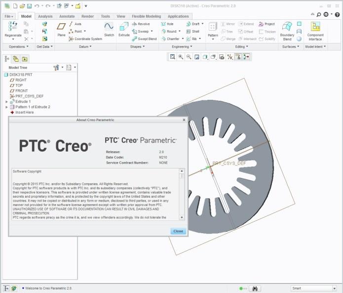 Thiết kế với Phần mềm creo 2.0 parametric M210 full license