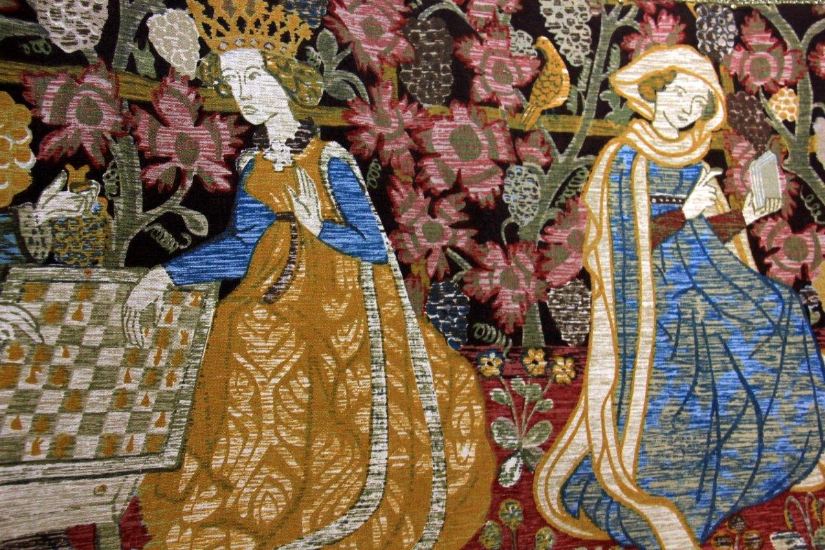 Tapestry found inside the Reichsburg