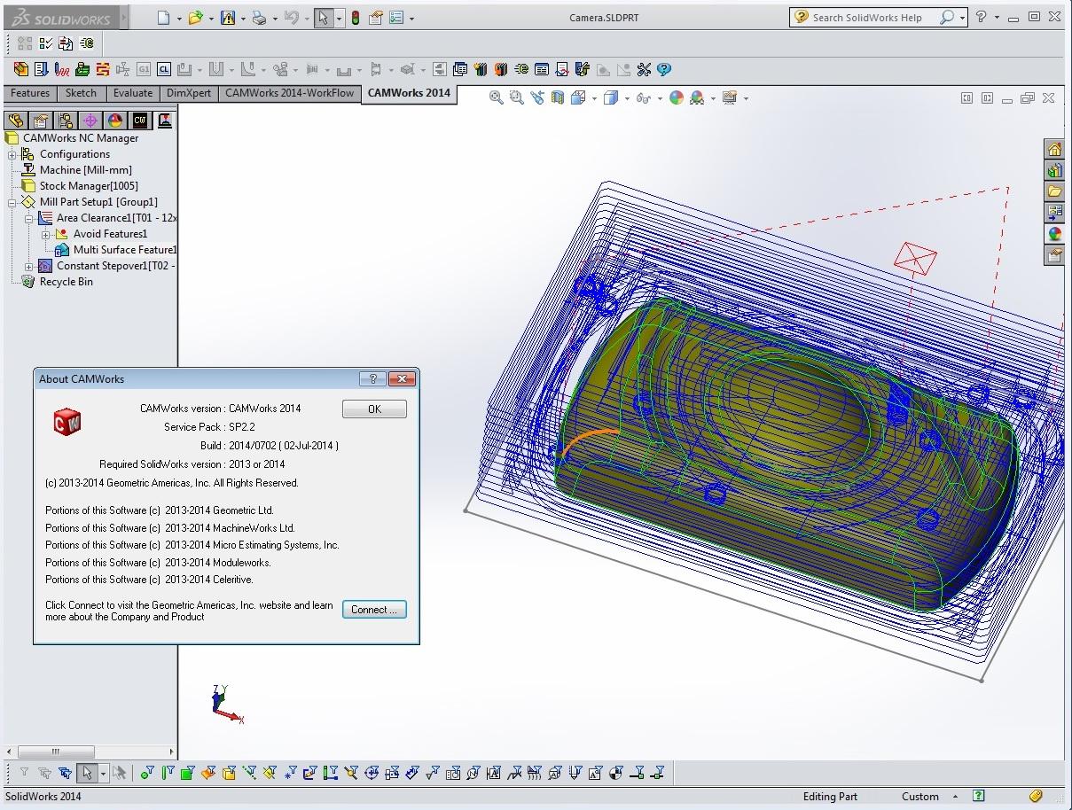 Lập trình gia công với Phần mềm CAMWorks 2014 full license