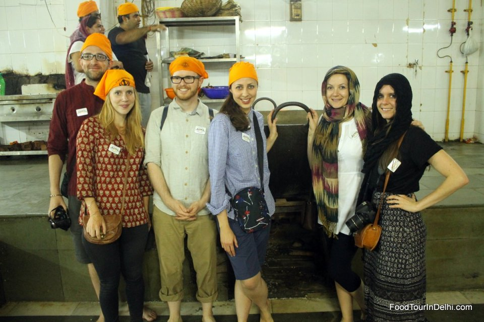 Visiting kitchen of a sikh temple