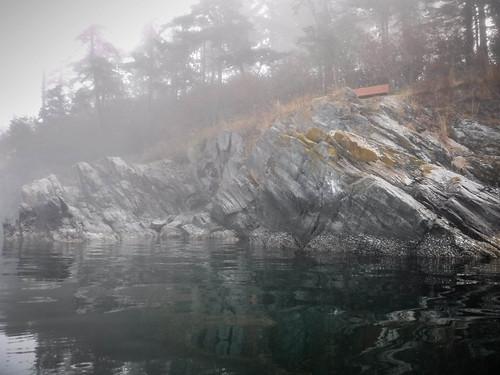 Samish Island Paddling in Fog-34